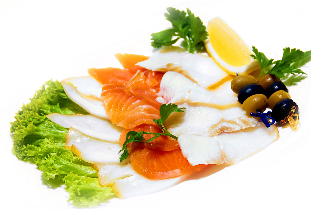Рыбное ассорти (семга с/с, масляная х/к,  палтус)