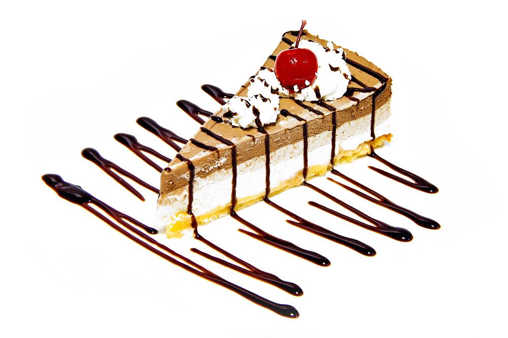 Трехслойный чизкейк из белого, молочного и черного шоколада