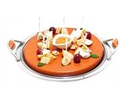 Ассорти сыров с грушей, медом и орехами
