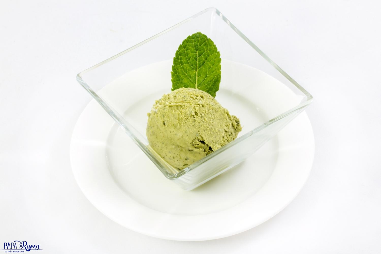 Домашнее мороженое базиликовое