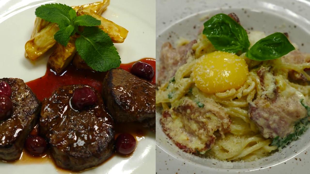 Романтический ужин в итальянском ресторане